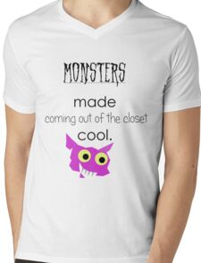 Monsters Made Coming Out Cool Mens V-Neck T-Shirt