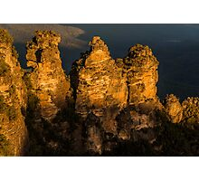 Three Sisters at sunset Photographic Print