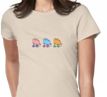 Cats riding scooters Womens Fitted T-Shirt