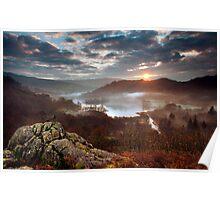 autumn sunrise Poster