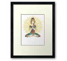 Yoga Om Chakras Mindfulness Meditation Zen 4 Framed Print