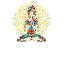 Yoga Om Chakras Mindfulness Meditation Zen 4 Photographic Print