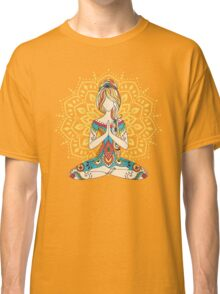 Yoga Om Chakras Mindfulness Meditation Zen 4 Classic T-Shirt
