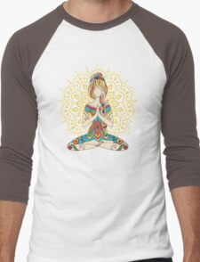Yoga Om Chakras Mindfulness Meditation Zen 4 Men's Baseball ¾ T-Shirt