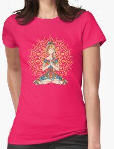 Yoga Om Chakras Mindfulness Meditation Zen 4 Womens Fitted T-Shirt