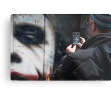 Heath's Joker Snapped Metal Print