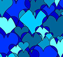 Blue collage hearts by holeighh