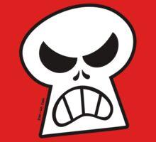 Angry Halloween Skull One Piece - Short Sleeve
