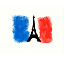 The Spirit Of Paris - French Flag And The Eiffel Tower Art Print