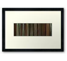 Moviebarcode: Finding Neverland (2004) Framed Print