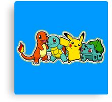 Pokemon First Generation *yellow Canvas Print
