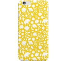 Delicate Yellow and White Floral Pattern iPhone Case/Skin