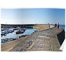 Morning Stroll ~ Lyme Regis Poster