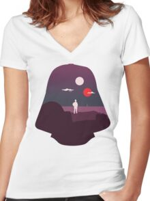 A New Hope Women's Fitted V-Neck T-Shirt