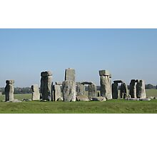 Blue Stonehenge Photographic Print