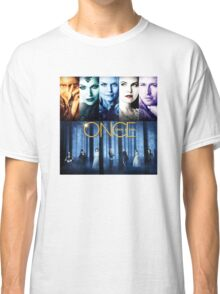 Once Upon a Time, OUAT, season 1, rumplestilskin, emma swan, prince charming, snow white, regina, evil queen, blue woods Classic T-Shirt