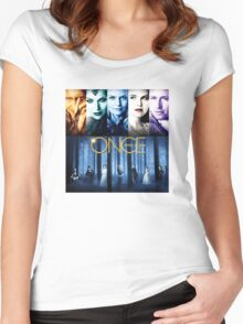 Once Upon a Time, OUAT, season 1, rumplestilskin, emma swan, prince charming, snow white, regina, evil queen, blue woods Women's Fitted Scoop T-Shirt