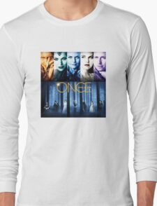 Once Upon a Time, OUAT, season 1, rumplestilskin, emma swan, prince charming, snow white, regina, evil queen, blue woods Long Sleeve T-Shirt