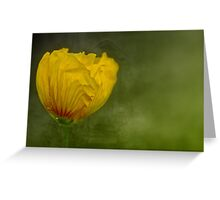 """Birth of a Golden Poppy............."" Greeting Card"