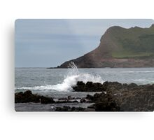 View From Mewslade Bay Metal Print