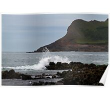 View From Mewslade Bay Poster