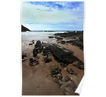 Rocks In Mewslade Bay - Wales Poster