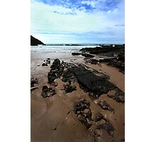 Rocks In Mewslade Bay - Wales Photographic Print