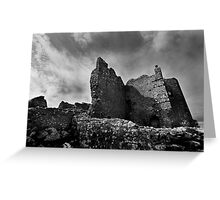 Weobley Castle Ruins - Gower - Wales Greeting Card