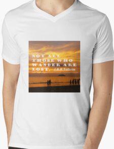 Inspirational Travel Quote Mens V-Neck T-Shirt