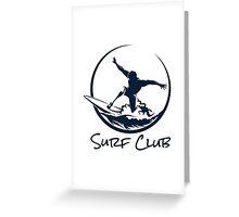 Surfer Club Print DesignTemplate Greeting Card