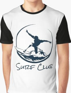 Surfer Club Print DesignTemplate Graphic T-Shirt