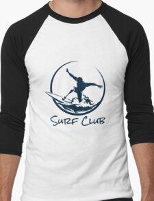 Surfer Club Print DesignTemplate Men's Baseball ¾ T-Shirt