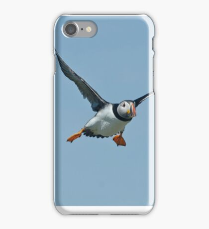 Flying puffin iPhone Case/Skin