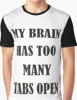 Brain Too Many Tabs Girls Graphic T-Shirt