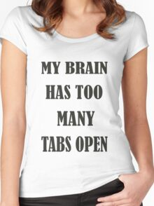 Brain Too Many Tabs Girls Women's Fitted Scoop T-Shirt