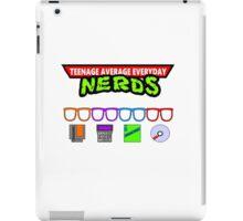 tmnt teenage average everyday nerds iPad Case/Skin
