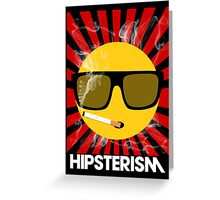 HIPSTERISM (SERIES) [red/white] Greeting Card