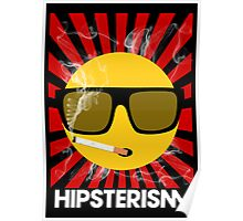 HIPSTERISM (SERIES) [red/white] Poster