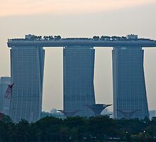 Marina Bay Sands as seen from the harbor cruise by ashishagarwal74