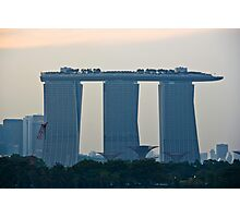 Marina Bay Sands as seen from the harbor cruise Photographic Print