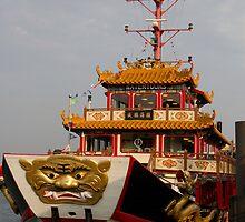 The ship of the Admiral Cheng Ho at Singapore Harbor by ashishagarwal74
