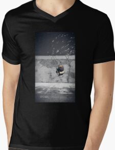 Loneliness of a fisherman Mens V-Neck T-Shirt