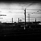 Train power lines by ShellyKay