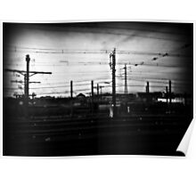 Train power lines Poster