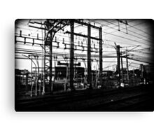Train Power Lines II  Canvas Print