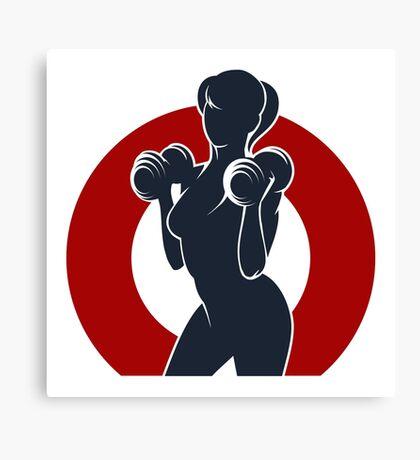 Gym or Fitness Club Emblem Canvas Print