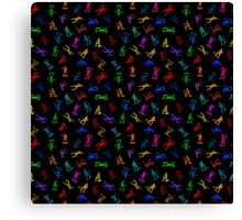 Toy Soldiers Vers 002a - Rainbow  Canvas Print