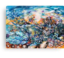 Woman Rising From the Sea Canvas Print