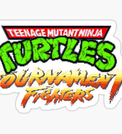 TMNT Tournament Fighters (SNES) Title Screen Sticker