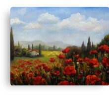 Beyond the Poppies by Chris Brandley Canvas Print